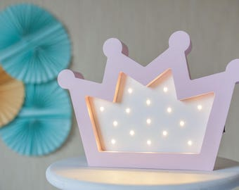 Crown lights - night light lamp - led lamp - childrens lamp - night light baby -  nightlight kids - Kids room decor - Nursery Wall Lamp