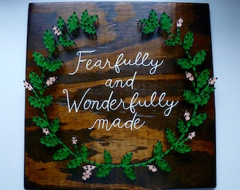 Nursery String Art, Fearfully and Wonderfully Made, Psalm 139:14