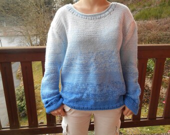 Blue ombre sweater wool.