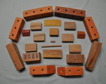 1940's Building Blocks - 20 Wooden Blocks
