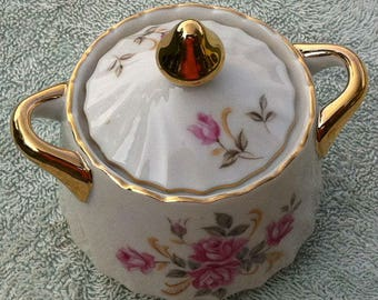Lefton China hand painted 3167 sugar bowl