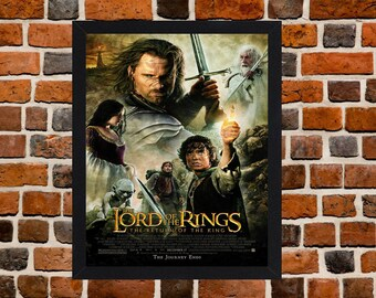 Framed The Lord Of The Rings The Return Of The King Movie / Film Poster A3 Size Mounted In Black Or White Frame