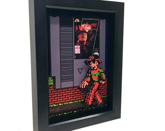 Freddy Krueger A Nightmare on Elm Street Video Game Nintendo Game Nes 3D Art Freddy Krueger Glove Artwork