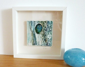 Ceramic Wall Art Framed Picture Mixed Media Abstract Pictures Contemporary Art Unique Artwork Home Decor Ceramic And Textile Paintings