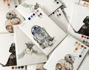 Limited Edition Gouache Studies - Star Wars