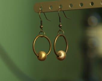 Gold & Bronze Hoop Earrings