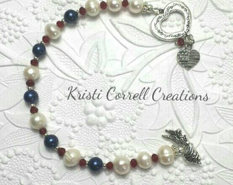 Patriotic red white and blue bracelet, Red white blue bracelet, Fourth of July bracelet, Patriotic bracelet, Red white and blue bracelet.