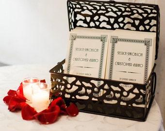 Art Deco Ceremony Program Wedding Handmade Folded Great Gatsby Custom Twenties Bifold
