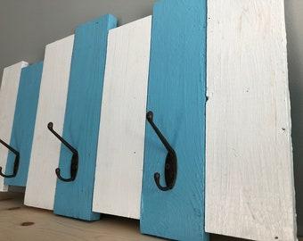 Beach Towel Rack, Nautical Coat Rack, Beach Rack, Nautical Rack Decor, Beach ,Pallets Coastal Coat Rack (B)