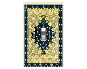 0147x - Art Nouveau William Morris Gold Book -mrs butler switch plate covers -