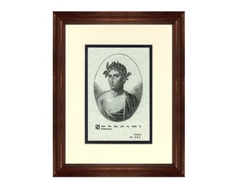 Print and Quotation of Horace with Mat and Frame