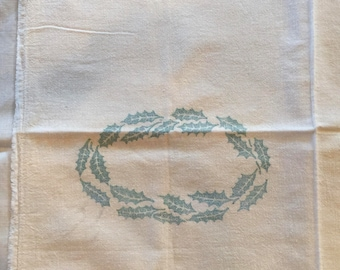 Sugar Sack, white  muslin with Holly print