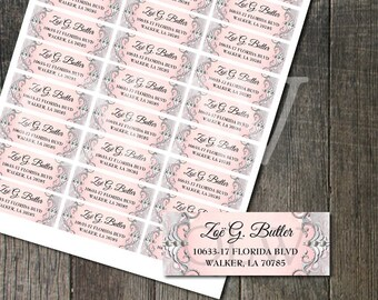 Princess Ornate Address Labels | Fairytale Pink and Sparkle | DIY Avery Address Labels | Matches our Princess Bday Invitation!