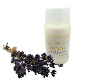 Lavender Natural Deodorant -  Aluminum Free - 24-Hour Protection - Shea Butter- Coconut Oil - Essential Oils - Vitamin E - Gentle