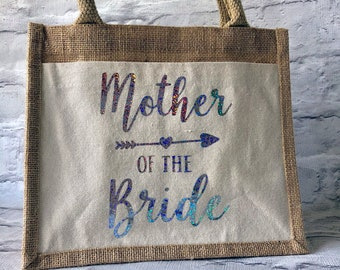 Mother Of The Bride Jute Cotton Pocket Gift Bag