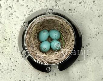 Bird nest purse hanger, tabletop purse hanger, purse hanger, purse hook, bird nest purse hook, nest purse hanger, nest purse hook, AN233PH