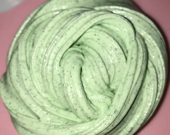 2 oz. melted mint chip ice cream SLIME