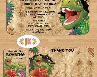 Dino Blast Dinosaur Birthday invitations * Come Celebrate with Us *