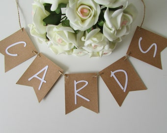 Small Rustic Cards Banner | Rustic Wedding Card Bunting | Small Card Banner | Place at Wedding Reception Card Table | Engagement Party