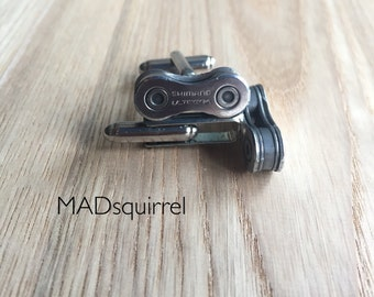 Shimano Ultegra Bicycle, Bike Chain Cufflinks, made from new Chain, with Shimano Ultegra on the side plate