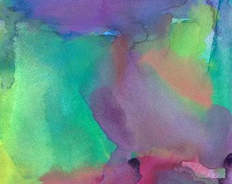 Abstract Art Print, Watercolor Painting, To the Moon