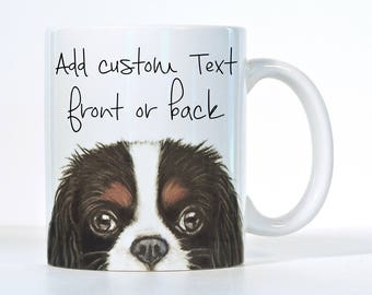 Customizable Cavalier King Charles Spaniel Mug, Tri Color Cavalier