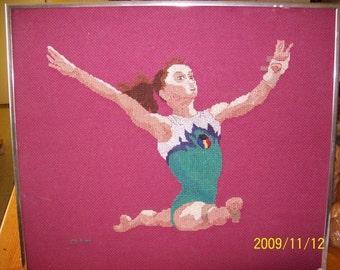 Gymnast Cross-Stitch, Steliana Nistor
