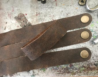 Wholesale Leather Cuffs- Soft Distressed Leather Wristbands- 3pk- Genuine Leather