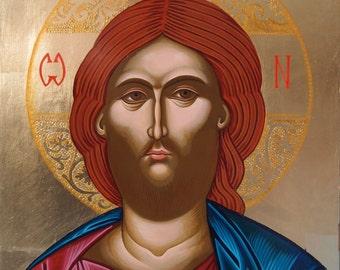 Jesus Christ Pantocrator,icon of Jesus,hand painted, Greek icon, Russian icon, Byzantine icon, religious gift, orthodox icon, Christmas gift
