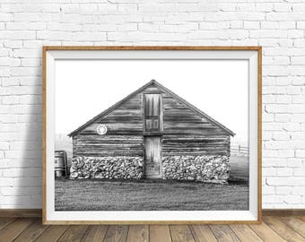 "black and white art, large art, large wall art, instant download printable art, digital download art, printable art - ""Stone Foundations"""