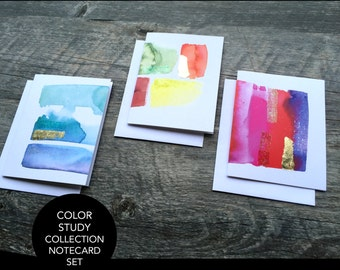 Color Study Collection Notecard Set (3)