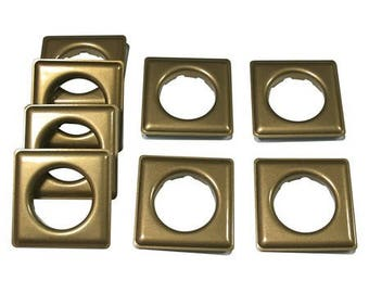 "Fast-set Metal, #12 Square Grommet, 1 9/16"", 8 Sets, Ant. Brass"