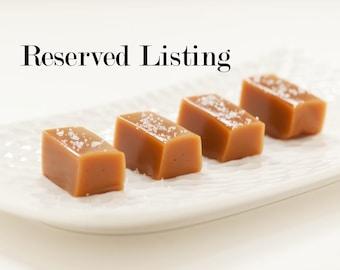 Reserved Listing - Fleur de Sel Caramels - DIY Wedding Favors for Rachel
