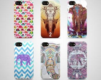 Elephant Phone case Elephant iPhone case 7 plus X 8 6 6s 5 5s se s galaxy Elephant samsung case s8 s7 edge s6 s5 s9 note 4 gift hard plastic
