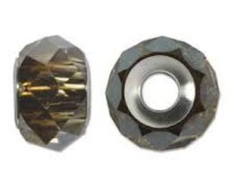 SWAROVKSI 5940 Be Charmed Briolette Bead - 14mm - Crystal Bronze/Steel