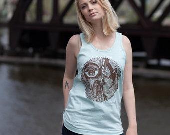 Sloth Unisex Men's Women's TankTop Cotton