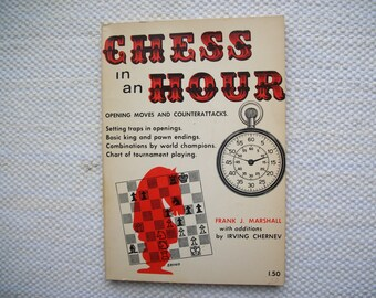 Chess In An Hour Frank J. Marshall 1968 Vintage Paperback Book