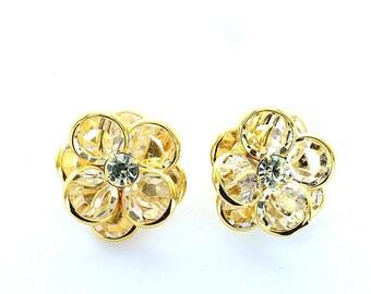 Swarovski vintage channel crystal set clip earrings.  Price is for 1 pair