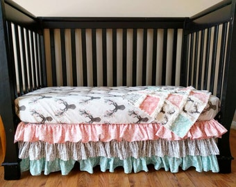 Floral Stag Woodland Baby Bedding