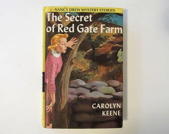 Vintage 1961 Nancy Drew Mystery Stories, The Secret of Red Gate Farm by Carolyn Keene, #6, Hardcover Young Adult Fiction Book, 1960s