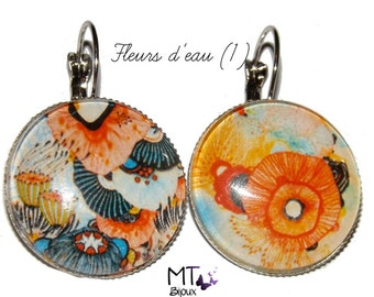 """Mismatched earrings """"blooms"""""""