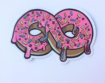 Donut Infinity Sticker Decal vinyl jumbo cute doughnut sprinkles