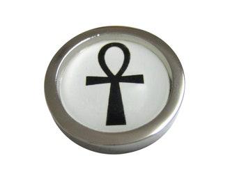 Bordered Ankh Cross Magnet