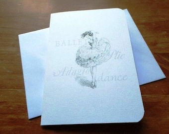 Black and white card 'The dancer' made hand