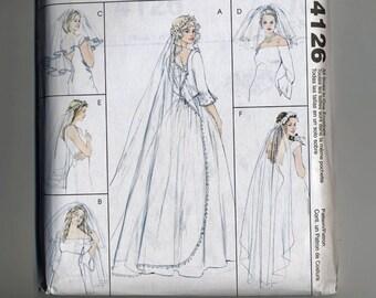 Bridal Veils McCalls 4126 Blusher Veil Headband Flyaway Elbow Finger TIp Ballet Chapel Cathedral  UNCUT Sew Sewing Pattern