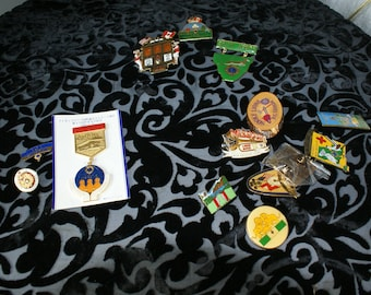 Collection of vintage Lion Club pins