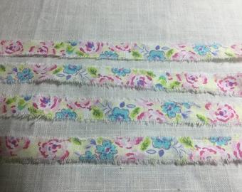 Trim ribbon, French Inspired Ribbon, Paris Ribbon, Vintage Floral Trim, Floral Ribbon Trim, 10 MM FLORAL Ribbon, Flower Ticking Trim ECS