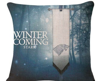Game of Thrones - Stark Banner Cushion Cover (Winter is Coming)