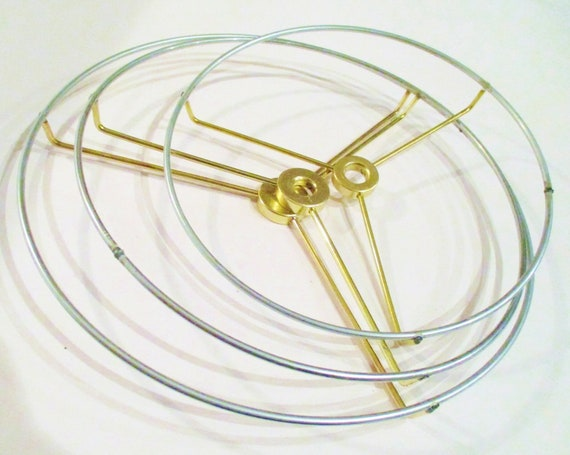 Lamp Shade Hardware, Lampshade Rings, Washer Top Fitting, Lamp Supplies,  DIY Lamp Shade, Lamp Shade Wires Top And Bottom Rings, Craft Supply From ...