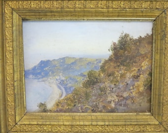 Antique Oil Painting Listed Irish Artist Allasio Italy Open Air 1800's